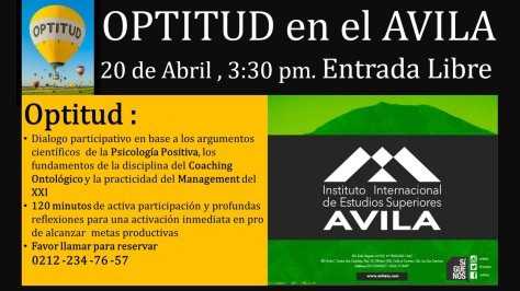 optitud en el avila abril 2016